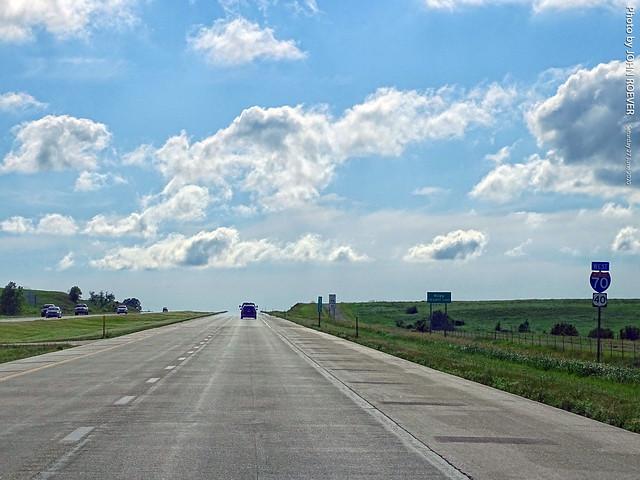 I-70 West in Flint Hills, 27 June 2020