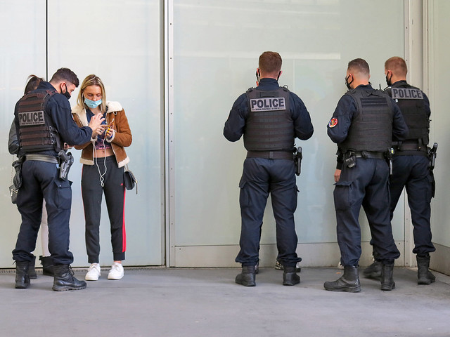 Territorial Contact Brigade checking suspicious persons. Who knows if this kind of photo will be prohibited in the future ?