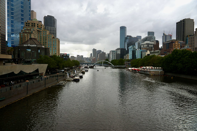 Yarra River from Princes Bridge, Melbourne