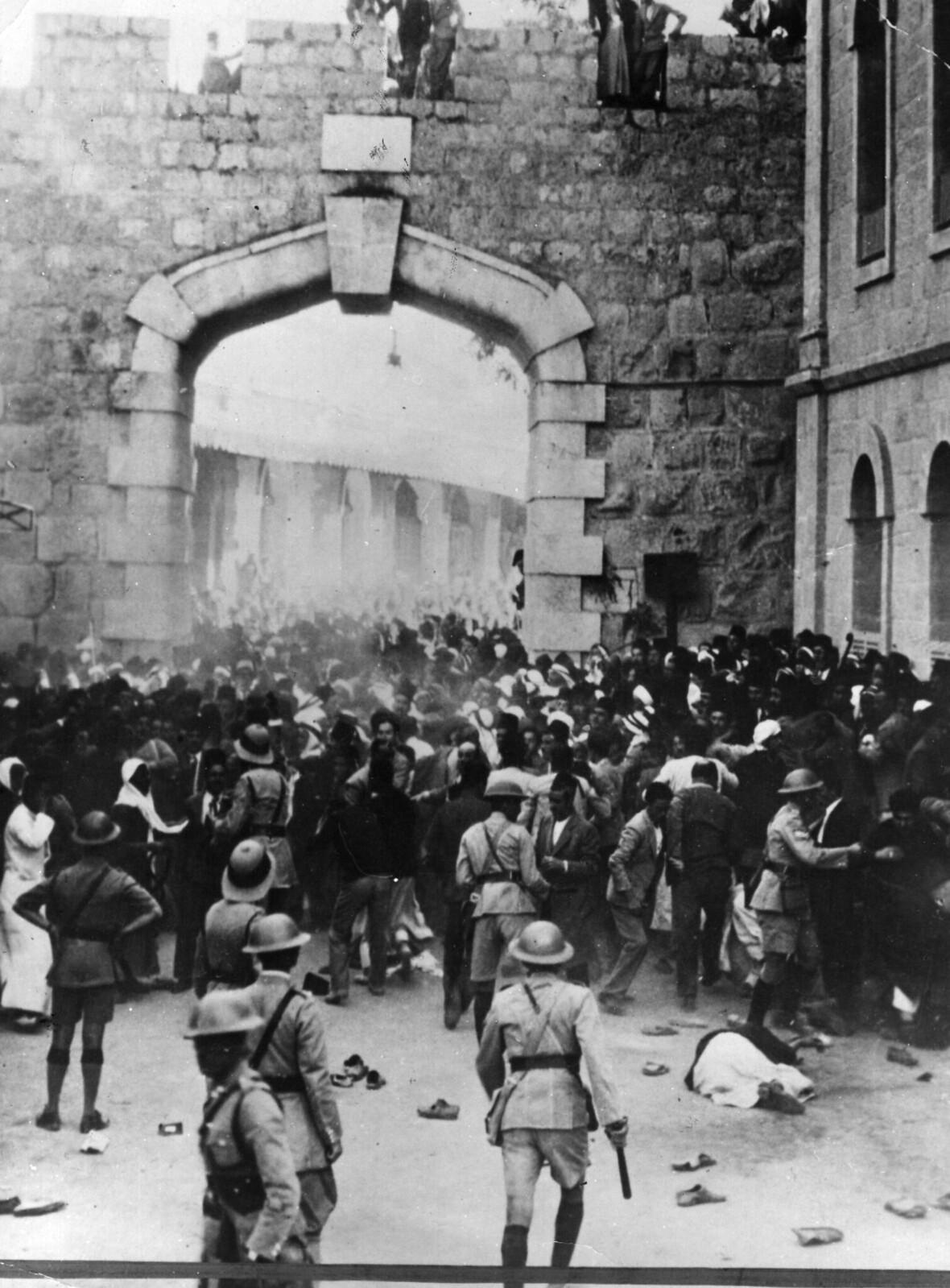 16. 1938. Бунт у Яффских ворот в Иерусалиме