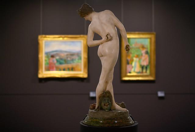 La Joueuse de boules, Jean-Léon Gérôme, musée des beaux-arts de Caen, 2018