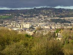 City of Bath seen from Prior Park Landscape Garden