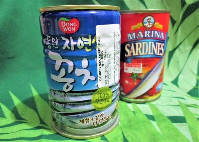 Korean mackerel pike & Marina sardines