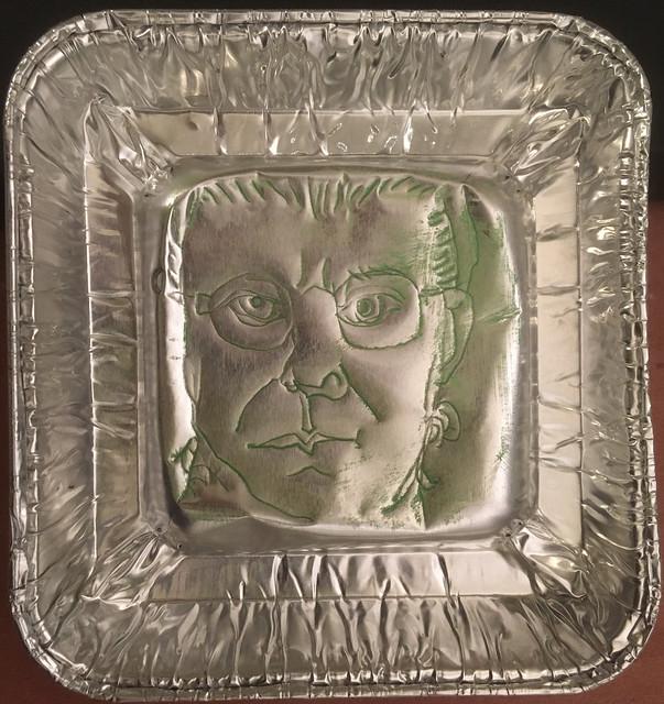 2020.12.26 Aluminum Ashtray Self-Portrait