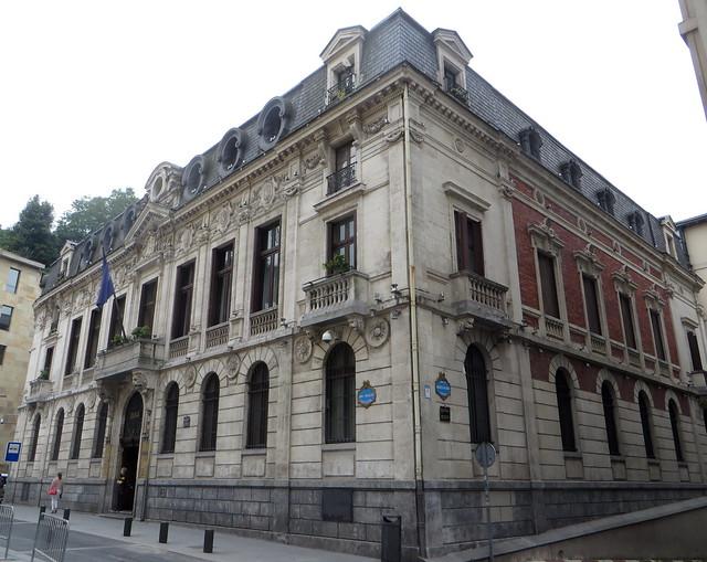 BBVA, banco de Bilbao, San Nikolas Plazatxoa, Bilbao, Biscaye, Pays Basque, Espagne.