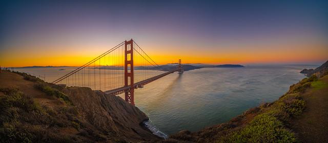 Golden Gate Bridge Battery Spencer Winter Solstice Sunrise San Francisco California Fine Art Fuji GFX100 Landscape Photography! Ocean Art Seascape! Master Medium Format Landscape Nature Photography Fuji GFX 100 Laowa 17mm f/4 Ultra-Wide GFX Zero-D Lens GF