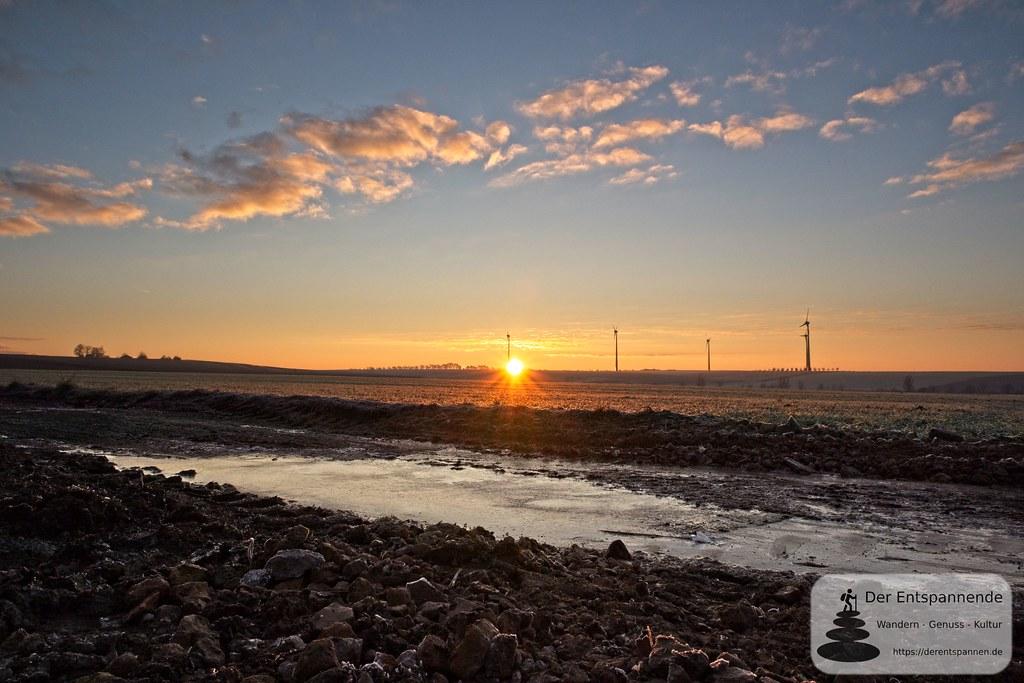 Sonnenaufgang oberhalb von Selzen