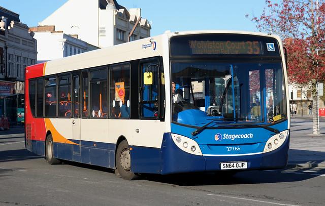 Stagecoach: 27165 SN64OJP Alexander Dennis Enviro 300