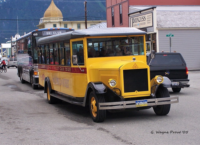 1927 Mack Sightseeing Bus Skagway Alaska Street Car Tour