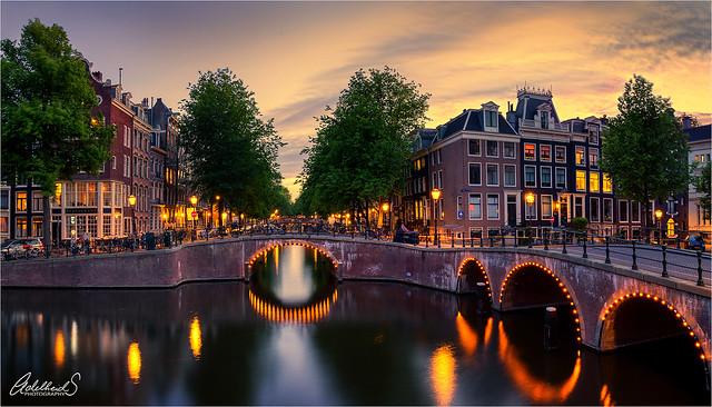 Keizersgracht Sunset, Amsterdam