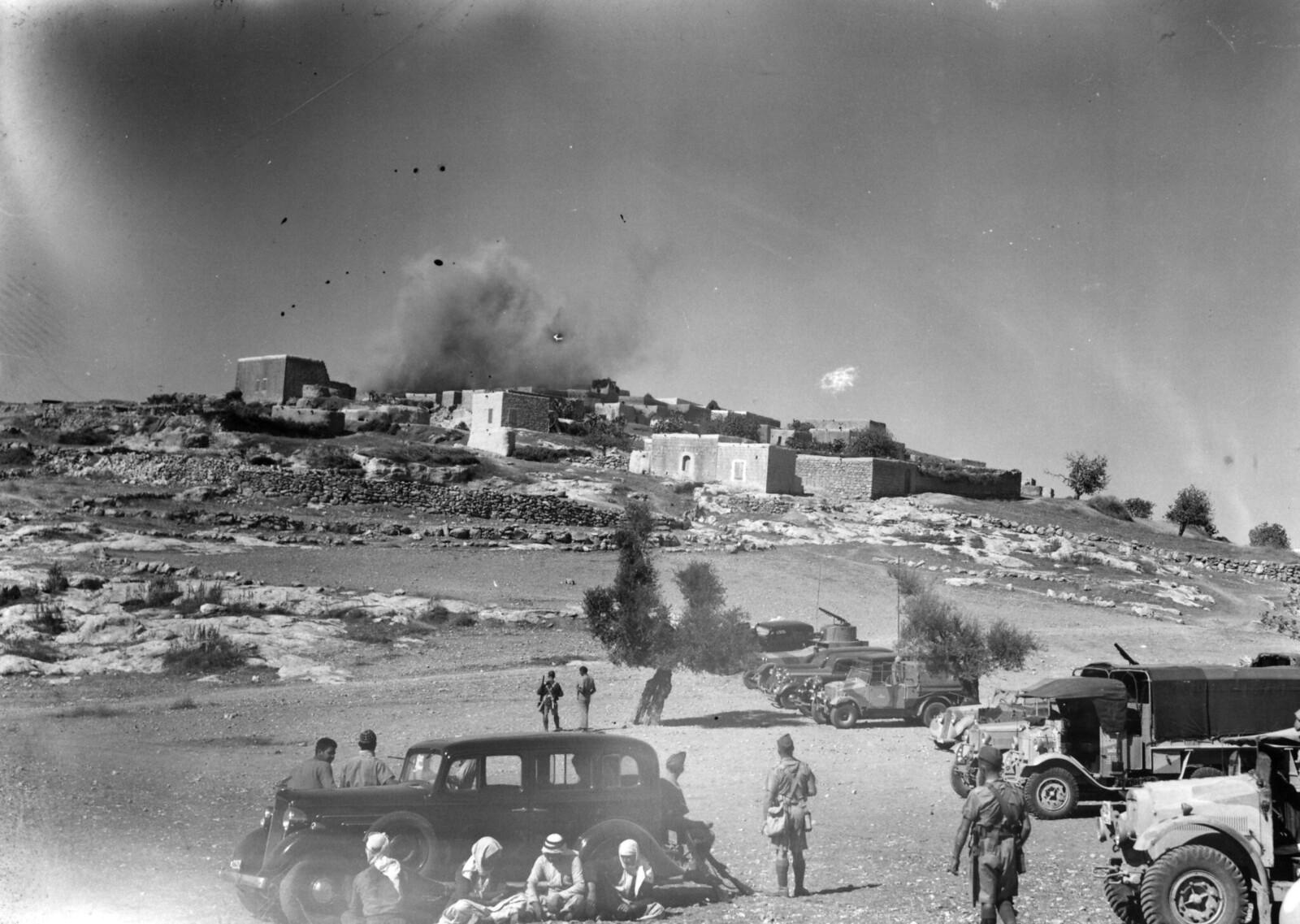 05. 1938. Арабская деревня Миар, недалеко от Хайфы, взорвана в период арабского мятежа. Это наказание и предупреждение повстанцам со стороны британцев