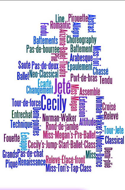 Ballet Word Tree™ T-Shirt - Front or Back?