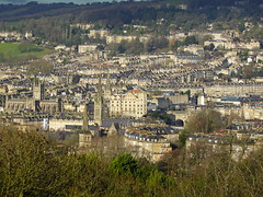 City of Bath seen from Prior Park Landscape Garden