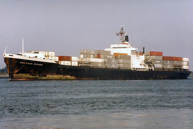 40 jaar geleden: American Archer verliest drie containers, een spoelt aan op Vlieland