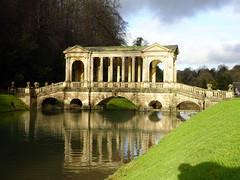 Palladian bridge at Prior Park Landscape Garden in Bath