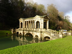 Palladian bridge at Prior Park Landscape Garden in Bath