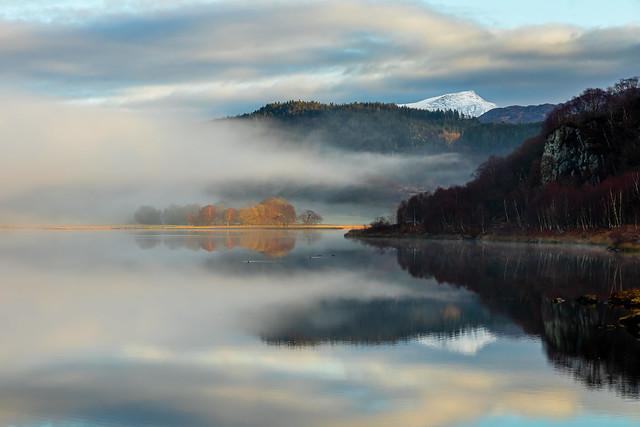 Autumn Fog and Reflection