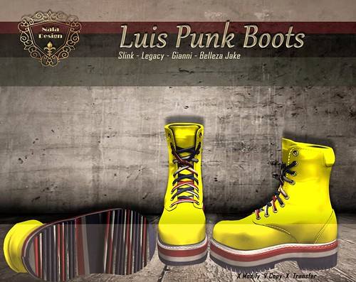 Nala Design - New Release -Luis Punk Male Boots - Group Gift