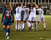 Leicester City celebrate Natasha Flint's winner