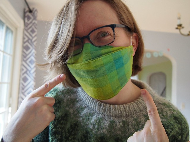 I made a(nother) mask!