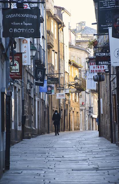 Busiest tourist street in Santiago
