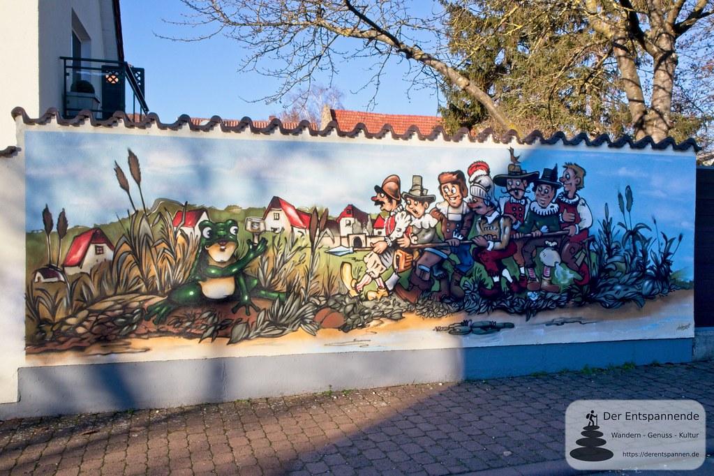 Kulturhistorisches Wandbild Selzer Frosch