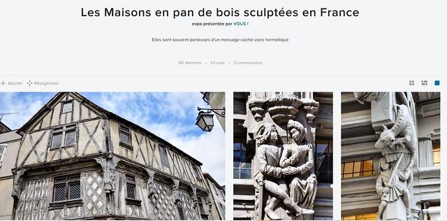 Les Maisons en pan de bois sculptées en France