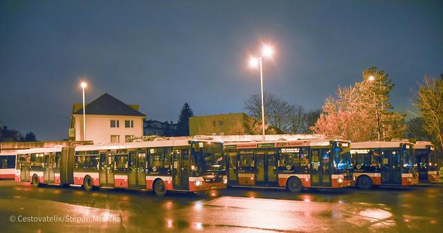 SOR buses on Skalka, Prague buses, 5.1.2021