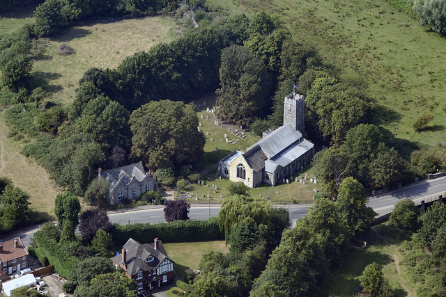 Trowse aerial image - St Andrews Church