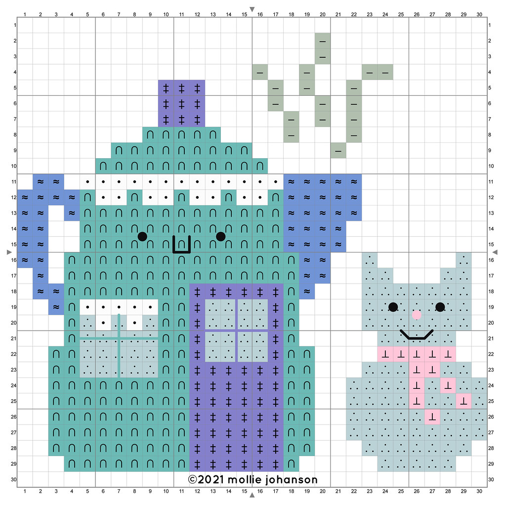 Hot Cocoa House Cross Stitch Chart