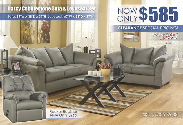 Darcy Cobblestone Sofa and Loveseat_75005-38-35-T211_2021