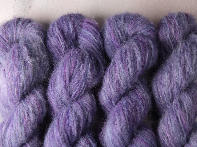 Fuzzy Lace – Brushed Baby Suri Alpaca & Silk hand dyed yarn 25g – 'Moondance'