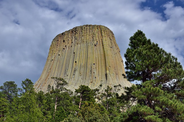 It's Hard Not to Want to Stand in Awe of Devils Tower (Bear Lodge) Even in the Parking Area