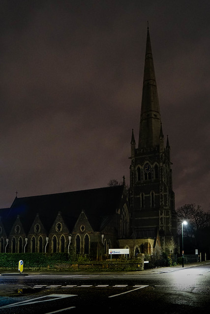 St James's Church by night