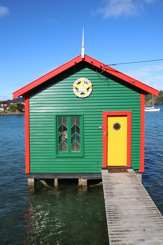 <p>A lovely little boatshed found on a walk around Evans Bay in Wellington. We are able to enjoy our country and move around freely, thanks to any early full lockdown, with strict border controls and managed isolation for new arrivals. Fingers crossed our freedom continues.</p>
