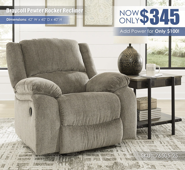 Draycoll Pewter Recliner_76505-25-CLSD