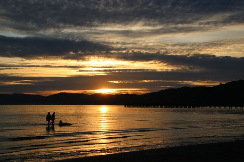 <p>One from the archives of a special evening on Petone Beach, Wellington, New Zealand</p>