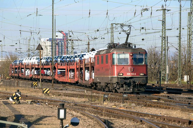 SBB Re 4/4 420 163 Basel Badischer Bahnhof