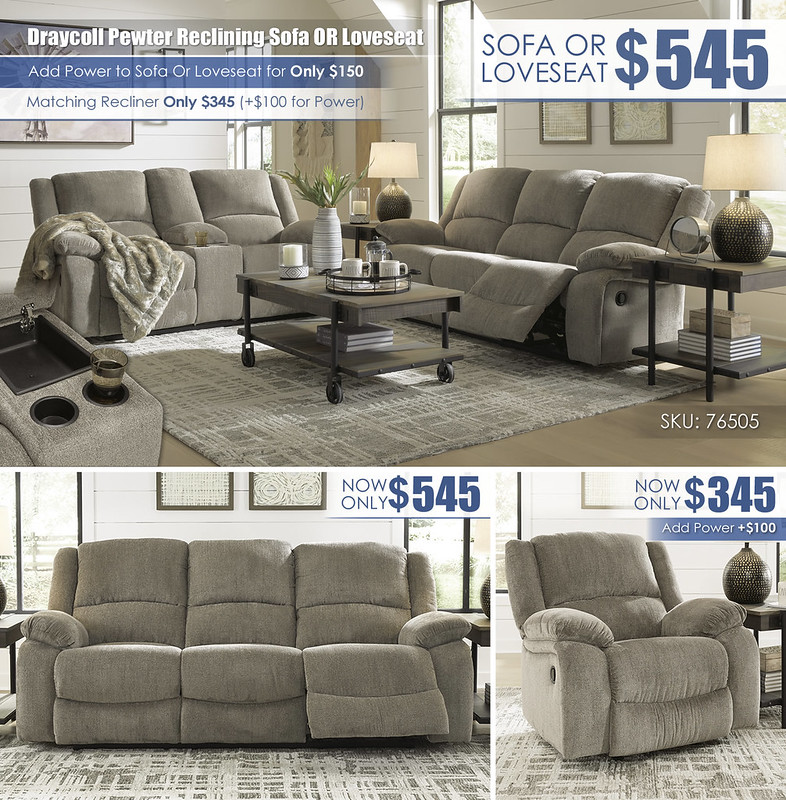Draycoll Pewter Reclining Sofa OR Loveseat_76505-88-94-T259