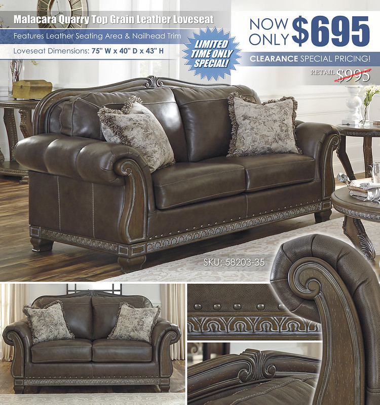 Malacara Quarry Loveseat Clearance Special_58203-35-SET_2021