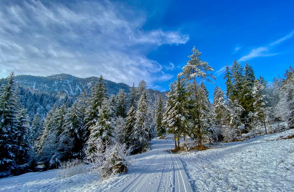 Winter landscape in Breitenau near Kiefersfelden in Bavaria, Germany