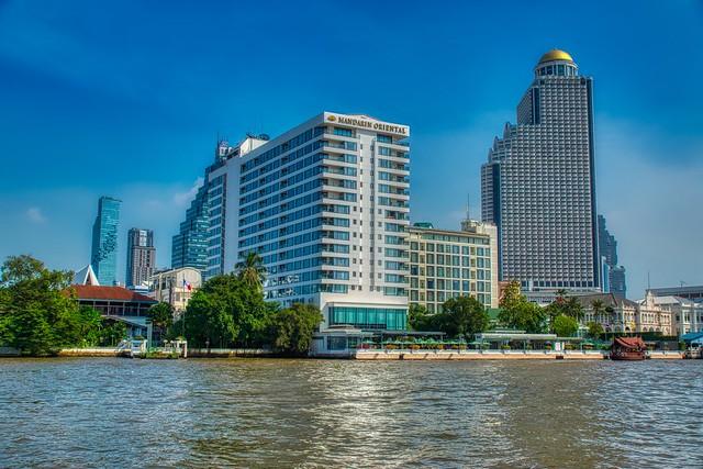 Mandarin Oriental hotel by the Chao Phraya river in Bangkok, Thailand