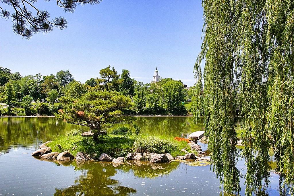 Buffalo New York  -Japanese Garden on Mirror Lake - Attraction Site