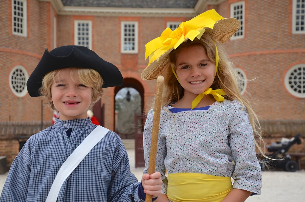 The Kids In Colonial Williamsburg