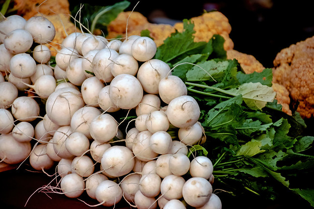 White radish Yellow Cauliflower