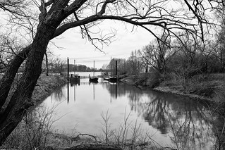 Schiffbrücke Wuppermündung