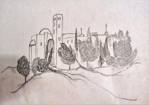 rachel frank האמניות הישראליות המודרניות היוצרות   רחל פרנק  רישום על נייר אמנית יוצרת מודרנית