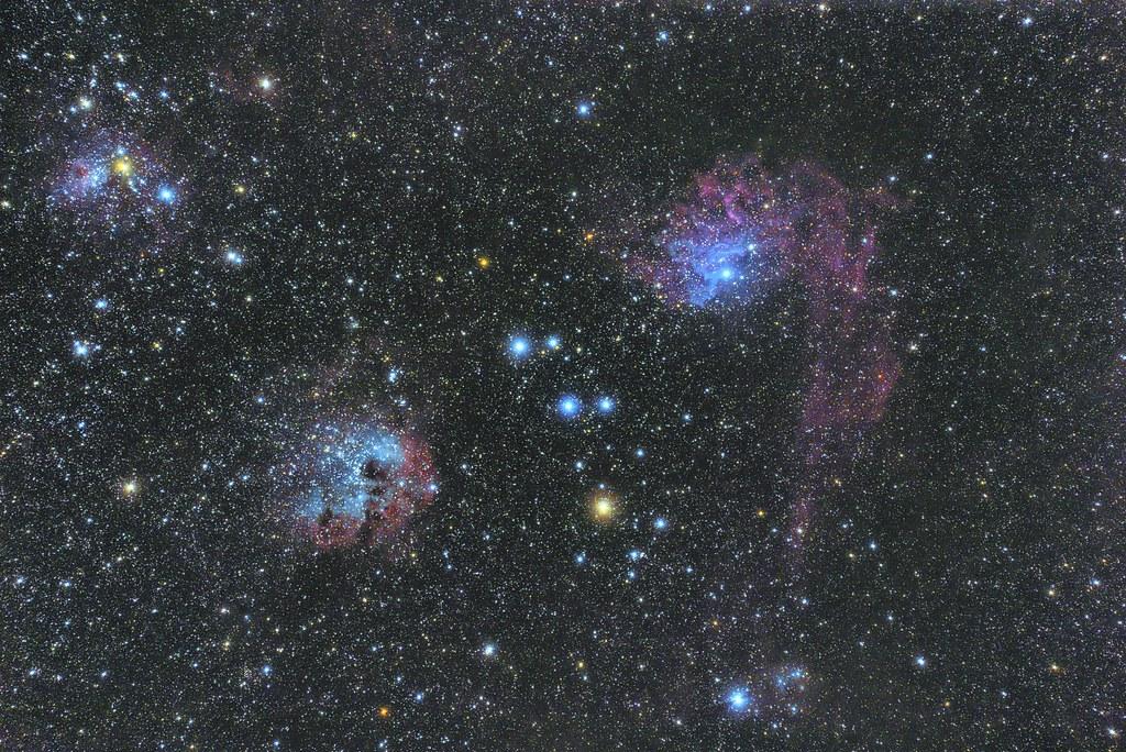 IC405, IC410 and IC417