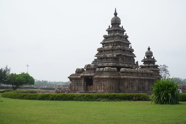 ShoreTemple at Mahabalipuram built in AD 700. Location - Mada Koil St, Mahabalipuram, Tamil Nadu 603104, India