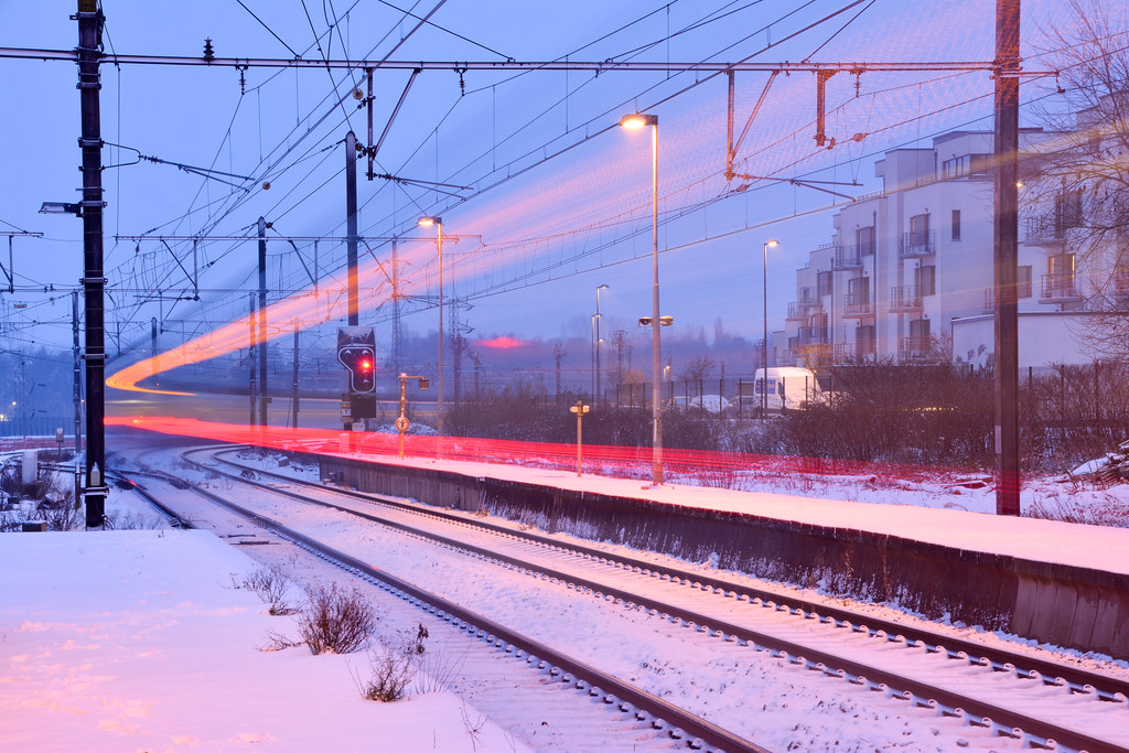 intercity train to Brussels.